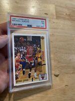 Michael Jordan PSA 7 1991 Upper Deck #44 Chicago Bulls INVEST Slabbed Smooth NR