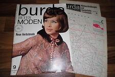 BURDA MODEN  # 9 / 1964 -- Neue Herbstmode / LOUIS FERAUD schlägt vor / SCHÜRZEN