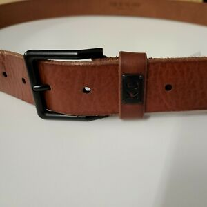 💪Brown szX-Large 44-45🌊 Designer Macy's KENNETH COLE NY Leather Jean belt