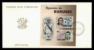 DR WHO 1966 BURUNDI FDC JOHN F KENNEDY JFK S/S IMPERF  g05459
