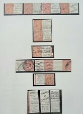 More details for gb king george v 1924-26 small collection of stamps with labels used