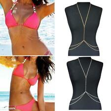 Shiny Sexy Ladies Body Belly Waist Chain Bikini Beach Simple Harness Necklace M