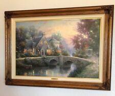 Thomas Kinkade Lamp Light Manor Framed Lithograph Hand-Highlighted 746/1750 COA