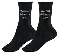This Dad Uncle Daddy Grandad Stepdad belongs to personalised socks