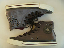 Converse Chuck Taylor Womens Shoes Studs CT HI Gray Velvety 8 Unise 141620C READ