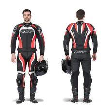 Tute in pelle e altri tessuti rossi per motociclista uomo