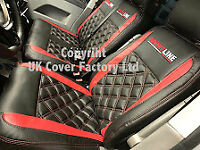VW TRANSPORTER T5 VAN SEAT COVERS. A23SL WITH ARM REST COVERS