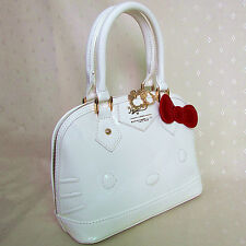 HelloKitty Handbag Tote Shoulder Bag 2018  New  Pu Bow White Small Size