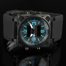INFANTRY Herren Uhr Armbanduhr Sport LED Digital Militär Chronograph Outdoor