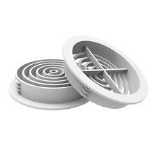 10 x 70mm White Plastic Round Circular Push In Soffit Air Vents Vivarium Caravan