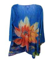Leoma Lovegrove Cardigan Sweater Open Front M Floral Wearable Art Long Sleeve Eu