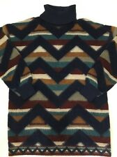 Men's MISSONI Chevron Mohair Sweater Large Signature Print Pullover Italian
