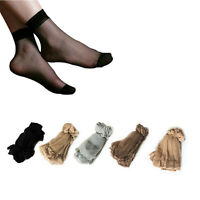 10 Pairs Women's Ankle Socks Sexy Ultra-thin Elastic Silky Short Silk Stockings