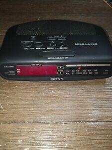 Sony Dream Machine AM/FM Clock Radio - Model ICF-C370 - Black