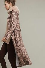 NWT Anthropologie by Elevenses Chevril Duster Collared Coat Printed 6 NEW