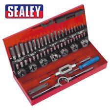 Sealey AK3015 Tap & Die Set 32pc Split Dies - Metric M3 to M12 With Metal Case