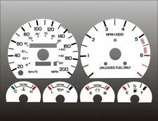 1989-1996 Ford Thunderbird METRIC KPH KMH Dash Cluster White Face Gauges