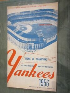 New York YANKEES 1956 official SCORE CARD - vs. Baltimore - Unscored - Mantle