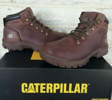 """Caterpillar CAT Womens 6"""" Mae Steel Toe WP Work Boots Size 7.5 Wide Cocoa P91011"""