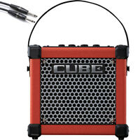 Roland Micro Cube GX Battery Powered Guitar Amplifier (Red) with 10' Cable