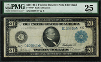 1914 $20 Federal Reserve Note Cleveland FR-978* - STAR NOTE - PMG 25 Very Fine