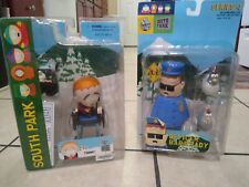 South Park lot of 2 figures Timmy + Officer Barbrady Mirage Mezco Loose in Packs