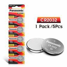 CR-2032 PANASONIC Piles Lot de 5 Batteries Bouton 3V Lithium Lettre Suivi