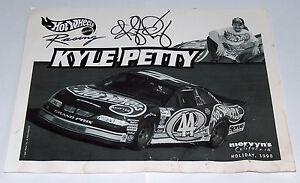 1998 Hot Wheels Racing Mattel Mervyn's Signed Kyle Petty Auto #44 Nascar Photo