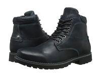 Men's Steve Madden Ceaderr Plain Toe Lace Up Boot Disstressed Black