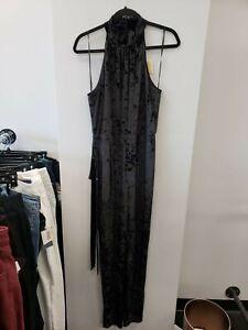 Michael Kors NWT Women's Black Halter Sleeveless Jumpsuit Large