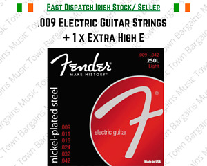 Fender Electric Guitar Strings .009 + 1 High E 9's 250L Nickel-plated Light