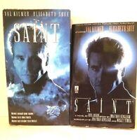 The Saint 1996 film (VHS & Movie Tie-In Paperback) Val Kilmer SEXY SPY Thriller
