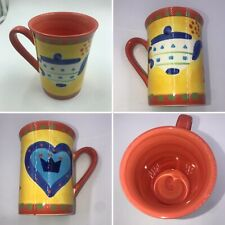 Vintage Whittards of Chelsea Colourful Hand Painted Cup Mug