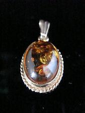 Amber Pendant/Locket Vintage Fine Jewellery (1960s)