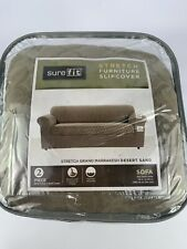 SureFit Stretch Furniture Slipcover 2 Pc -  Sofa Fits Most Sofa 74 in To 96 in