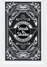"""Steak N Shake """"Famous For Steakburgers"""" Playing Card Black 2014 Gift Card"""