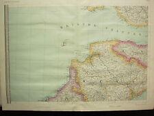 1868 HAND COLOURED MAP ~ BRISTOL CHANNEL ~ DEVON SOMERSET DARTMOOR