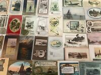 ~Lot of 30 OLD VINTAGE NAUTICAL ~SHIPS~ BOATS~ WATER SCENES~ POSTCARDS-p704