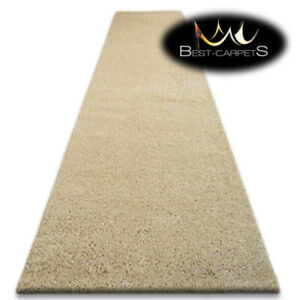 Modern Hall Runners soft SHAGGY Carpet 5cm Garlic beige Width 60-140cm long RUGS