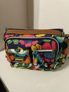 Lily Bloom Women's Crossbody Bag Multicolor Floral Pockets Adjustable Straps