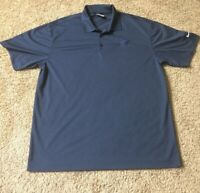 NIKE GOLF DRI-FIT SHORT SLEEVE NAVY BLUE POLO SHIRT MENS LARGE