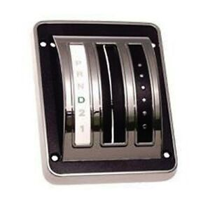 NEW 1969 - 1970 Ford Mustang Shift Cover Auto Transmission Chrome Bezel and Seal