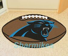 "Carolina Panthers NFL 22""x35"" Bath Bedroom Area Door Welcome Football Mat Rug"