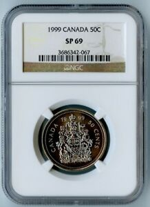 1999 CANADA NGC SP69 COAT OF ARMS 50 CENTS 50C! ONLY 8 EXIST!