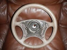 MERCEDES BENZ S, E, CLASS LEATHER STEERING WHEEL 1042470 Taupe 6015835 PERFECT!