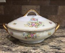 EMPRESS CHINA Made In Japan COVERED CASSEROLE DISH Floral With Heavy Gold Trim