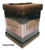 Make Up Couture Lip Gloss 15 Pack Different Colours Lipstick Gift Set Bronze Box