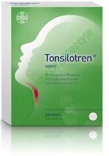Tonsilotren box of 60 tab for treatment of sore throat swollen tonsils