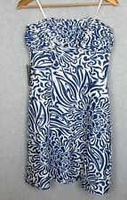Ann Taylor Size 6 Silk Small Blue Pleated Dress Detachable Straps Summer