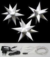 3D Adventsstern 3x kleine Sterne weiß Weihnachtsstern innen Erzgebirge Stern Neu